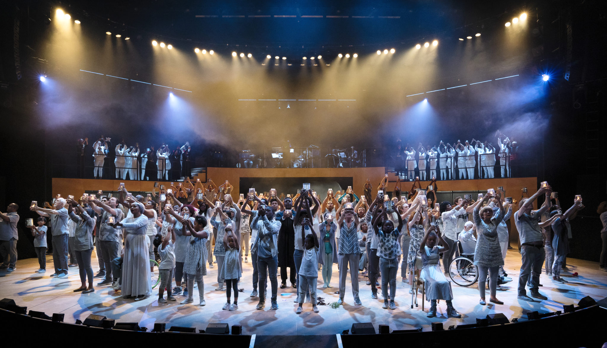 Thames Reach service users receive standing ovation at the National Theatre