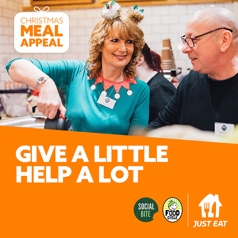 Thames Reach delighted to be supported by Social Bite Christmas Meal Appeal