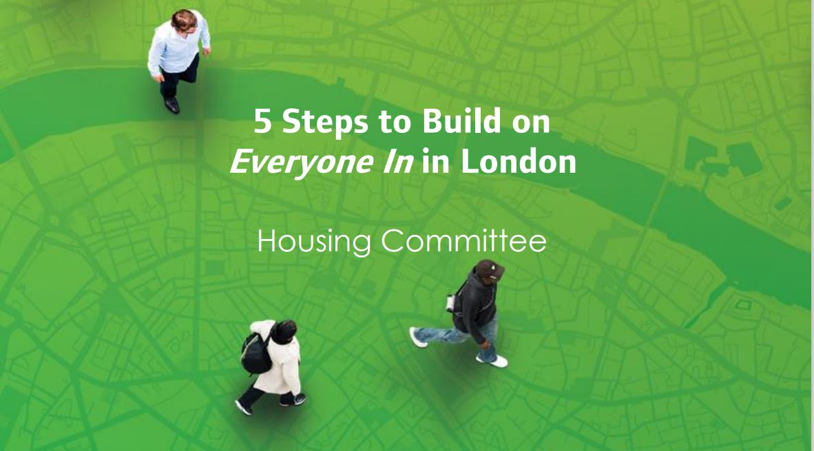 London Assembly report on 'Everyone In' highlights Thames Reach's work